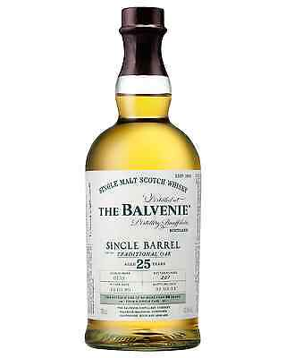 The Balvenie 25 Year Old Single Barrel Scotch Whisky 700mL bottle Single Malt