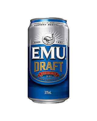 Emu Draft Cans 30 Block 375mL case of 30 Mid Strength Beer Lager