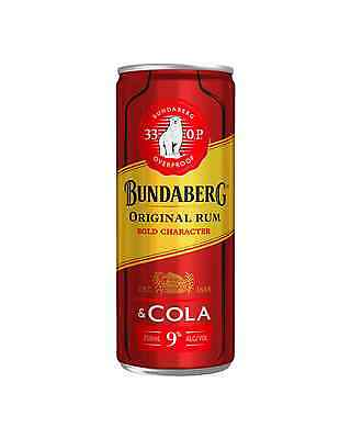 Bundaberg 33 OP Rum & Cola Cans 250mL case of 24