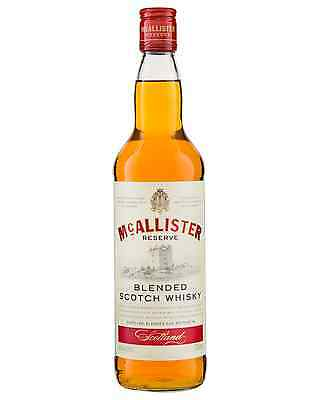 McAllister Reserve Scotch Whisky 700mL bottle Blended Whisky