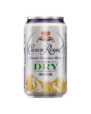 Crown Royal Whisky & Dry Cans 330mL case of 24 Canadian Whisky Blended Whisky