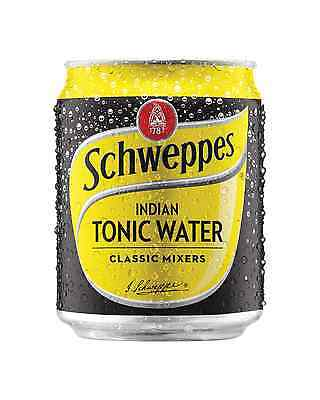 Schweppes Tonic Water Cans 250mL can Mixers