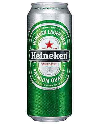 Heineken Cans 500mL - Fully Imported case of 24 International Beer Lager
