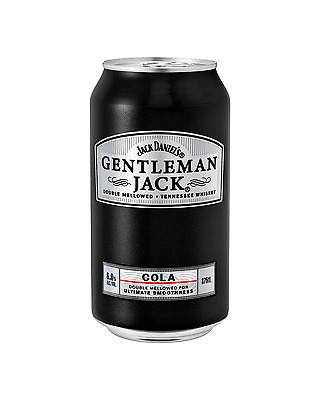 Gentleman Jack Rare Tennessee Whiskey & Cola 375mL case of 24 American Whiskey