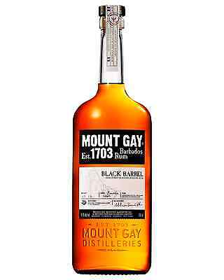 Mount Gay Black Barrel Rum case of 6 Dark Rum 700mL