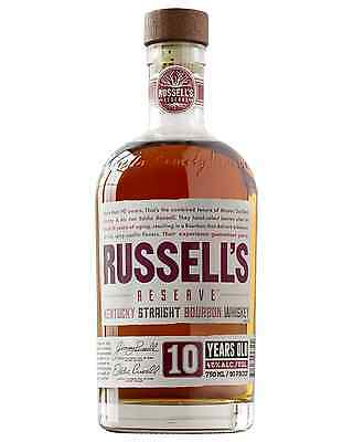 Russell's Reserve 10 Year Old Kentucky Straight Bourbon Whiskey 750mL case of 6