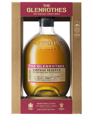The Glenrothes Vintage Reserve Single Malt Scotch Whisky 700mL bottle Speyside