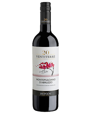 Zonin Regions Montepulciano d'Abruzzo case of 6 Dry Red Wine 750mL Abruzzo
