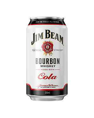 Jim Beam White Label Bourbon & Cola Cans 375mL case of 24 American Whiskey