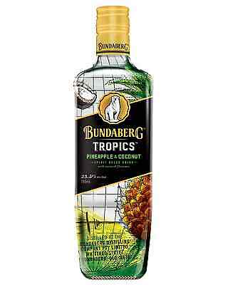 Bundaberg Tropics Pineapple & Coconut 700mL case of 6 Liqueur
