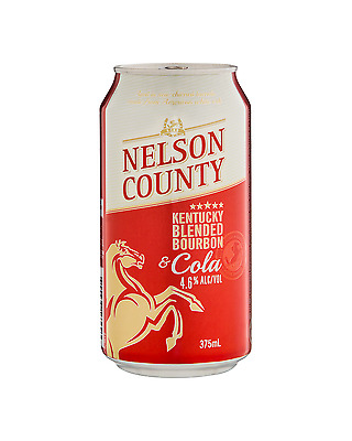 Nelson County Bourbon & Cola Cans 375mL case of 24 American Whiskey