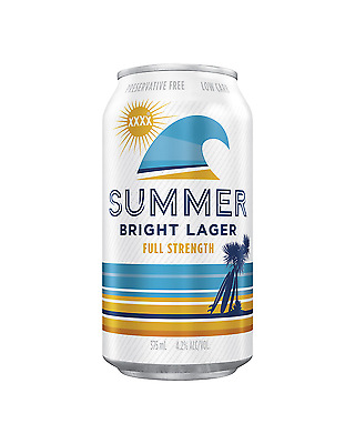 XXXX Summer Bright Lager Cans 375mL case of 24 International Beer