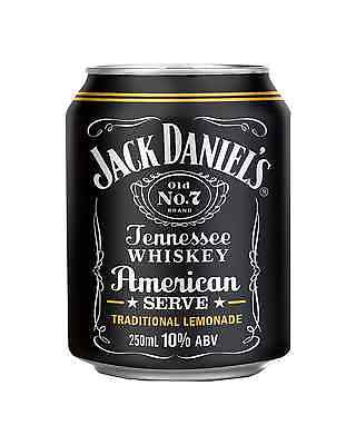 Jack Daniel's American Serve & Lemonade Cans 250mL case of 24 American Whiskey
