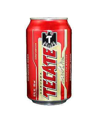 Tecate Beer Cans 355mL case of 24 Premium Beer International Lager
