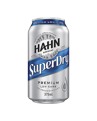 Hahn Super Dry Cans 375mL case of 24 Low Carb Beer Lager