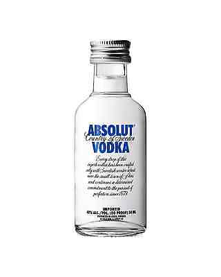 Absolut Vodka 50mL case of 12