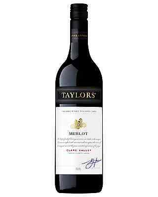 Taylors Estate Merlot case of 6 Dry Red Wine 750mL Clare Valley