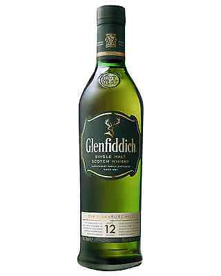 Glenfiddich 12 Year Old Single Malt Scotch Whisky 700mL case of 6 Speyside