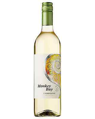 Monkey Bay Chardonnay case of 6 Dry White Wine 750mL Gisborne