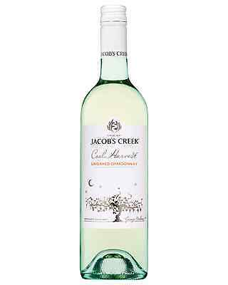 Jacob's Creek Cool Harvest Unoaked Chardonnay case of 6 Dry White Wine 750mL