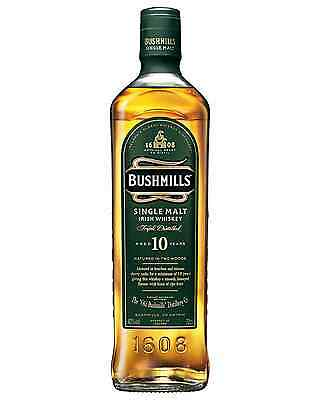 Bushmills 10 Year Old Irish Whiskey 700mL bottle