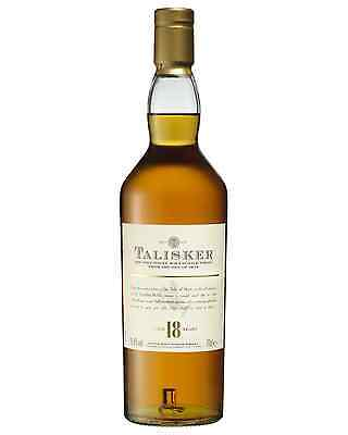 Talisker 18 Year Old Scotch Whisky 700mL bottle Single Malt Highland