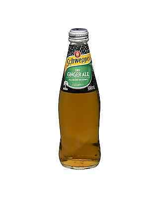 Schweppes Dry Ginger Ale 300mL case of 24 Soft Drinks 4 x 300mL