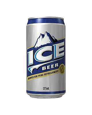 Ice Cans 30 Block 375mL case of 30 Mid Strength Beer Lager Lidcombe