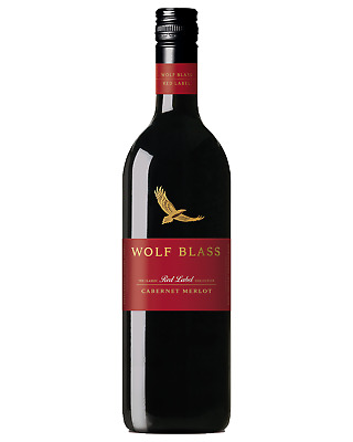 Wolf Blass Red Label Cabernet Merlot bottle Dry Red Wine 750mL