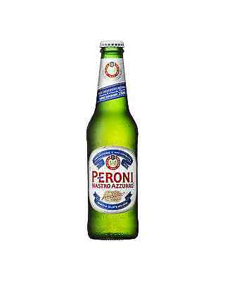 Peroni Nastro Azzurr Bottles 330mL case of 24 International Beer Lager