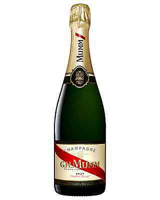 Mumm Cordon Rouge Brut case of 6 Pinot Noir Chardonnay Pinot Meunier Wine 750mL