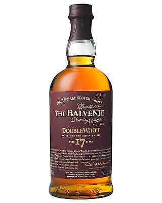 The Balvenie 17 Year Old DoubleWood Scotch Whisky 700mL case of 3 Single Malt