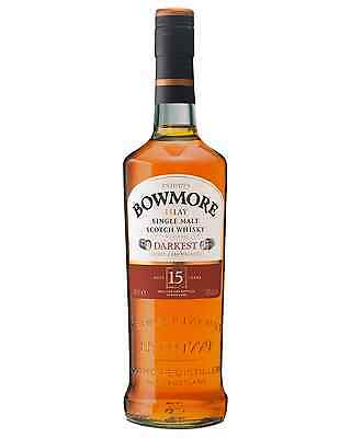 Bowmore Darkest 15 Year Old Single Malt Scotch Whisky 700mL bottle Islay