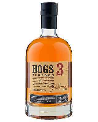 Hogs 3 Bourbon 700mL case of 6 American Whiskey