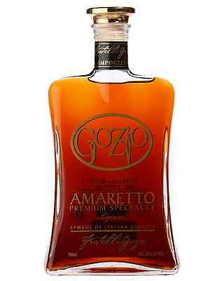 Gozio Amaretto 700mL case of 6 Liqueur Nut-Flavored Liqueurs