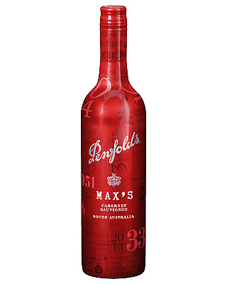Penfolds Max's Cabernet Sauvignon case of 6 Dry Red Wine 750mL