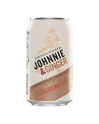 Johnnie Walker & Ginger Can 375mL case of 24 Scotch Whisky Blended Whisky