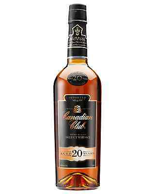 Canadian Club 20 Year Old Whisky 750mL bottle Canadian Whisky Blended Whisky