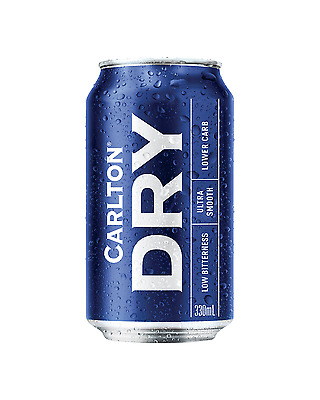 Carlton Dry Cans 30 Block 330mL case of 30 Lower Carb Beer Lager