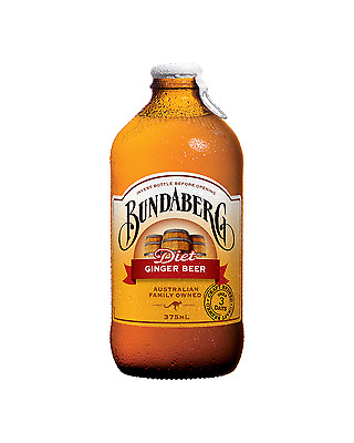 Bundaberg Diet Ginger Beer 375mL case of 24 Soft Drinks