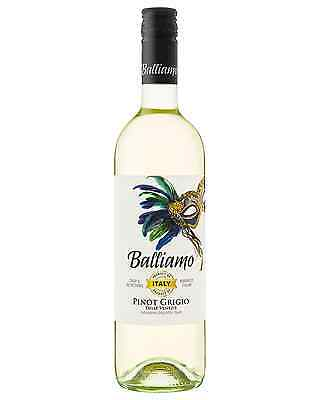 Balliamo Pinot Grigio case of 6 Dry White Wine 750mL