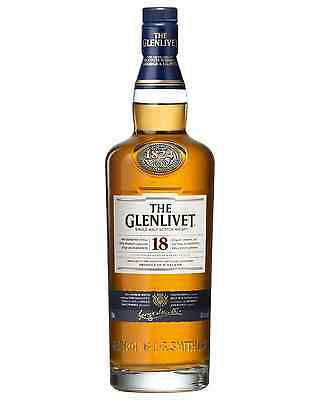 The Glenlivet 18 Year Old Scotch Whisky 700mL case of 6 Single Malt Speyside
