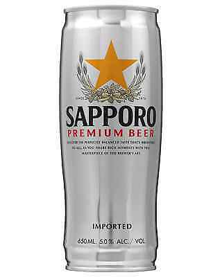 Sapporo Premium Beer Cans 650mL case of 12 International Beer Lager