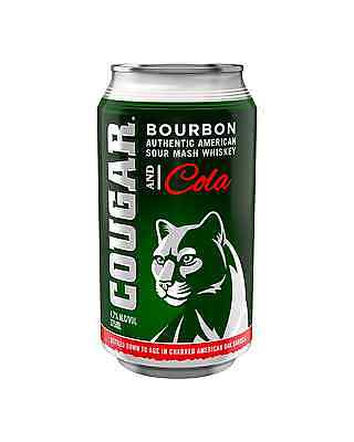 Cougar Bourbon & Cola Cans 375mL case of 24 American Whiskey