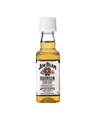 Jim Beam White Label Bourbon 50mL case of 10 American Whiskey
