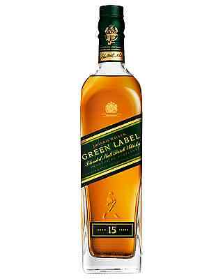 Johnnie Walker Green Label Scotch Whisky 700mL case of 6 Blended Malt