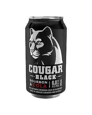 Cougar Black Bourbon & Cola Cans 375mL case of 24 American Whiskey