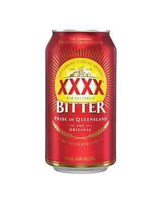 XXXX Bitter Cans 30 Block 375mL case of 30 Australian Beer - Everyday Lager
