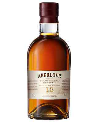 Aberlour 12 Year Old Double Cask Scotch Whisky 700mL case of 3 Single Malt