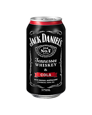Jack Daniel's Tennessee Whiskey & Cola Cans 375mL case of 24 American Whiskey